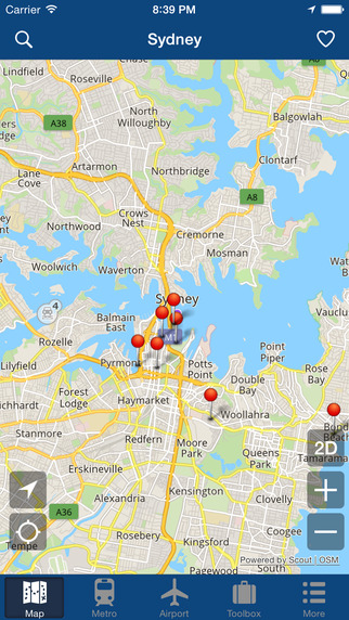 Sydney Offline Map - City Metro Airport Screenshots