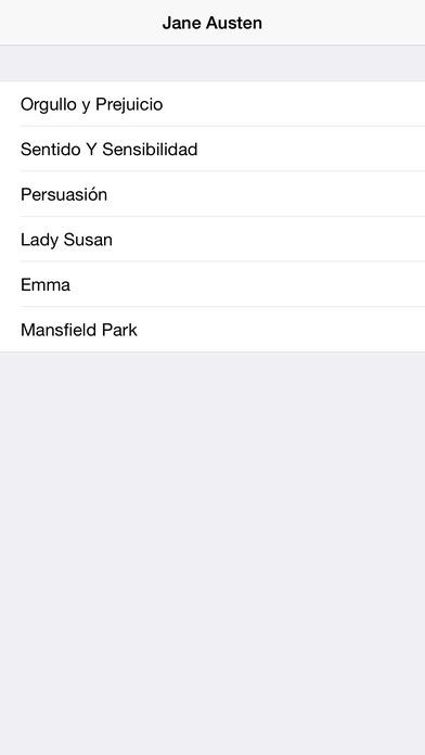 6 Novelas de Jane Austen iPhone Screenshot 1