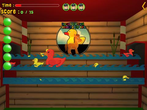 horses carnival shooting for kids iPad Screenshot 3