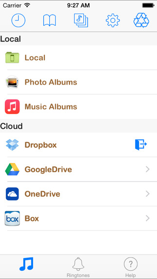 Box MP3 FREE - Music Manager Ringtone.s Maker from Cloud Drives