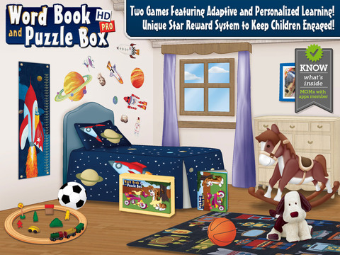 First Words Book and Kids Puzzles Box Pro: Early learning game to assist teaching in the classroom w