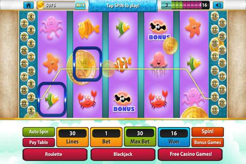 Mr Fish Craze Lucky Slots - Free Xtreme Las Vegas Casino with Bonus Games screenshot 3