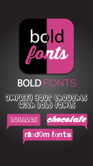 Double Tap with Bold Fonts Typography