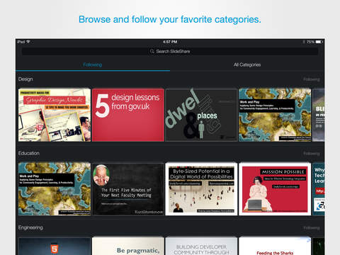 SlideShare Presentations: The Official App for Professional Knowledge Sharing screenshot