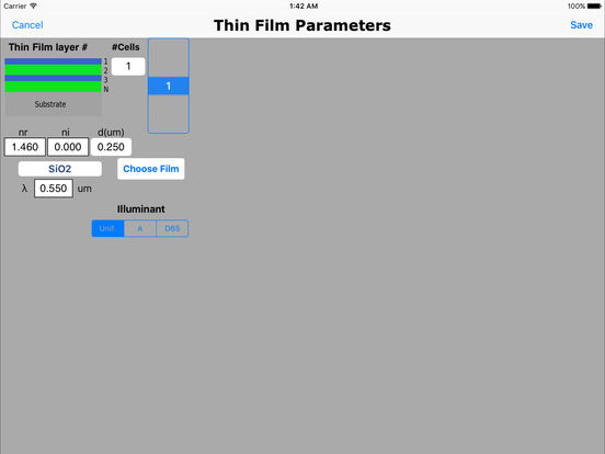 Thin Films Pro iPad Screenshot 2