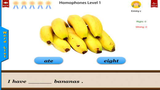 Homophones -English Language Art Grammar App