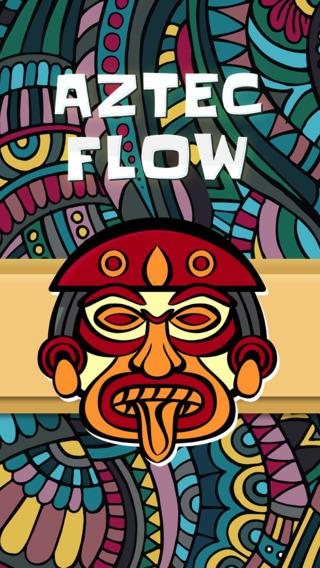 Aztec Flow - HD - PRO - Connect Matching Aztec Signs Ancient Civilization Puzzle Game