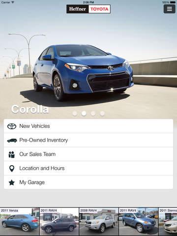 Heffner Toyota for iPad - Kitchener Waterloo Car Dealer