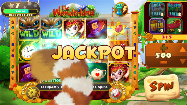 AA Slots - Alice Bunny Match 3 Slot Games