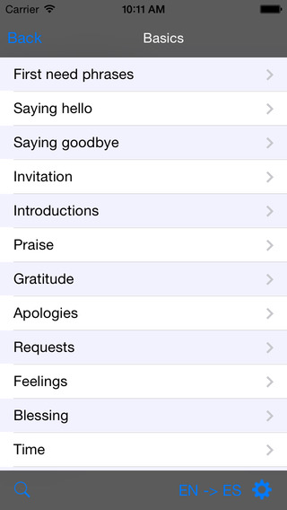 German-Albanian Talking Travel Phrasebook iPhone Screenshot 2