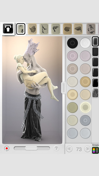 Figuromo Artist : Gargoyle Love - 3D Color Combine Design Fantasy Sculpture