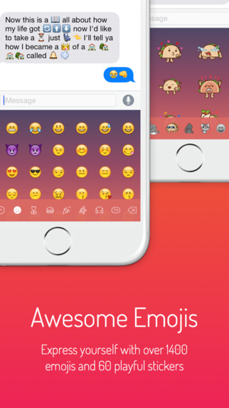 Next Keyboard - Beautiful Themes, New Emojis & Stickers Screenshots