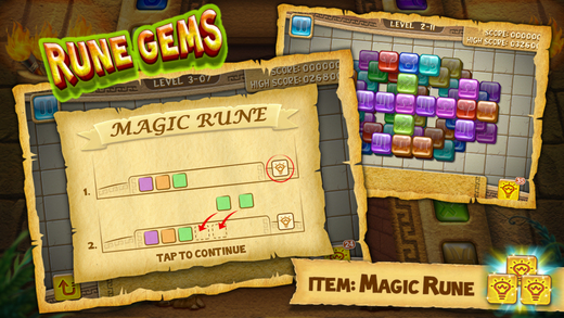 Rune Gems Games for iPhone/iPad screenshot