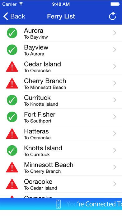 NC Ferries iPhone Screenshot 2