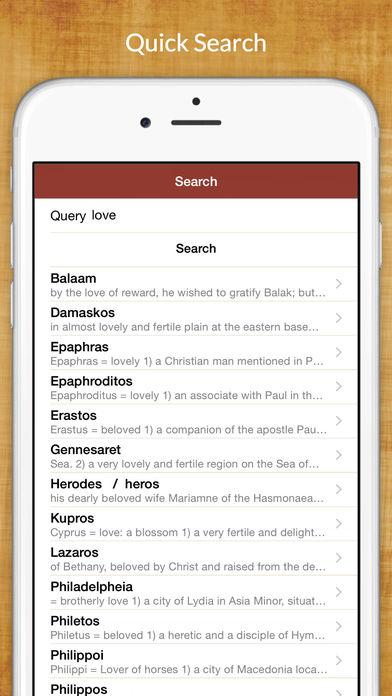 Greek Bible Dictionary (Bibles) iPhone Screenshot 2