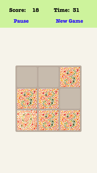 Color Blind Treble 3X3 - Playing With Piano Music Sliding Number Tiles