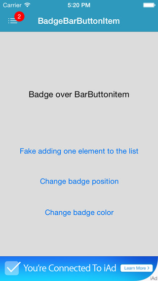Badge Bar Button Item