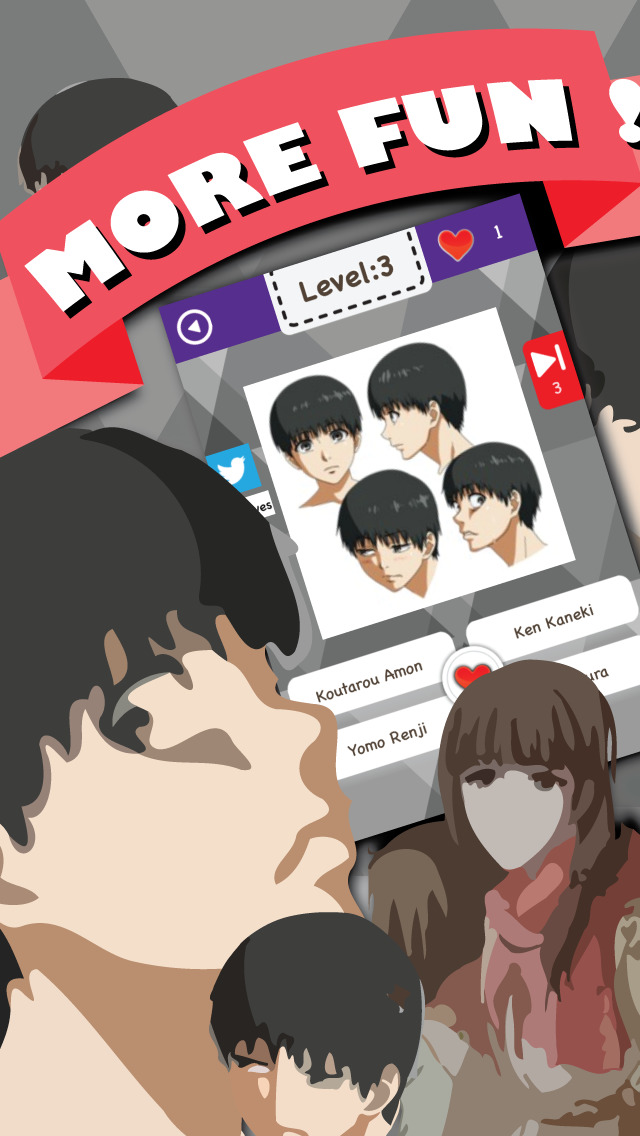 Anime Characters Quiz : Quiz anime characters manga game tokyo ghoul edition ios