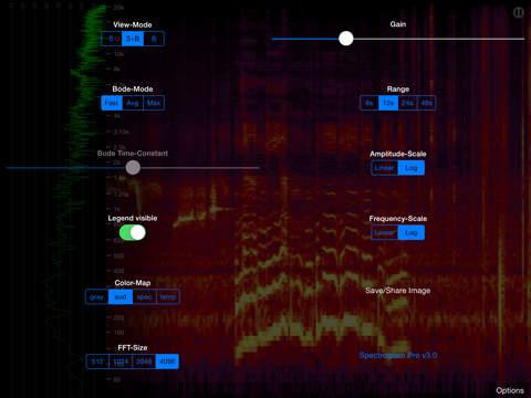 Spectrogram Pro iPad Screenshot 3