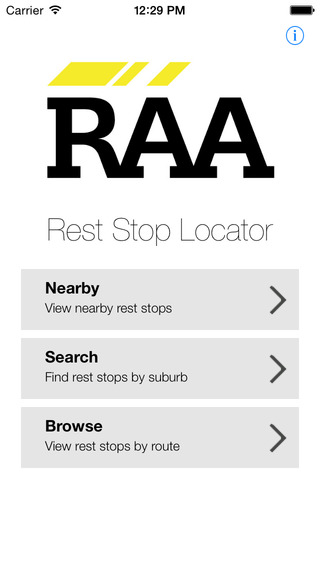 RAA Rest Stop Locator