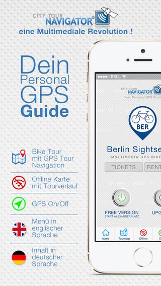 Berlin Fahrrad Tour Guide: Multimedia GPS Audioguide Videoguide inkl. Routen-Navigation mit Offline