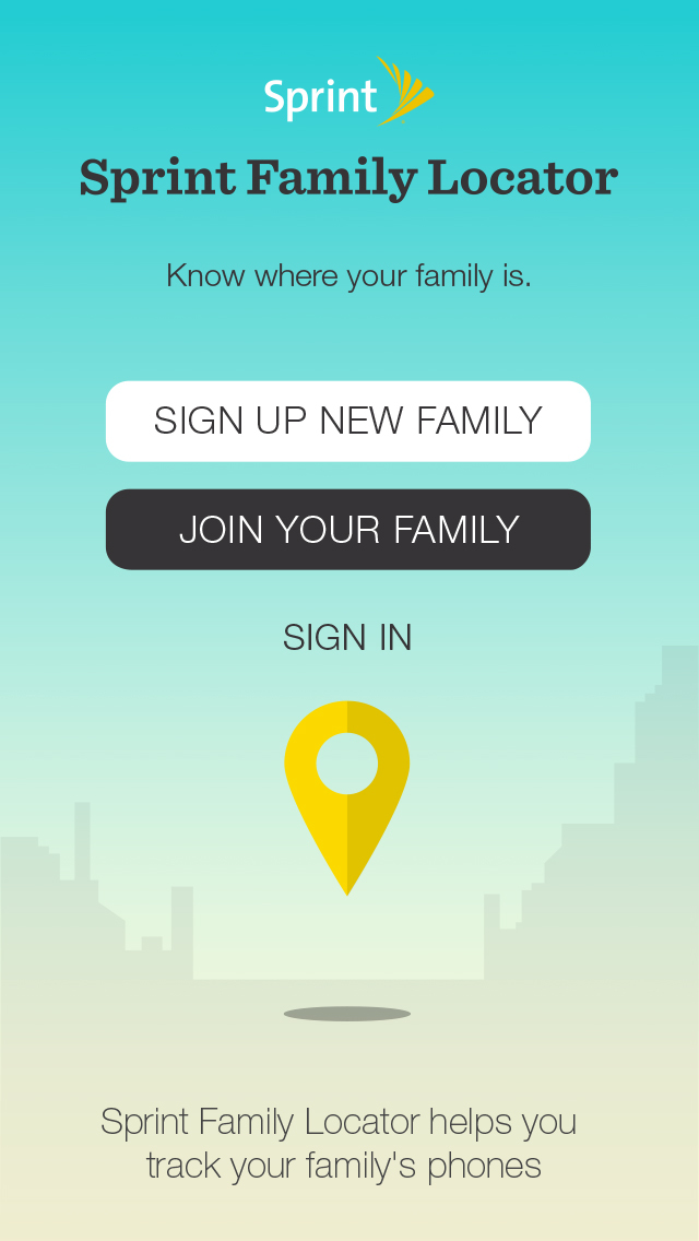 Sprint Family Locator app image
