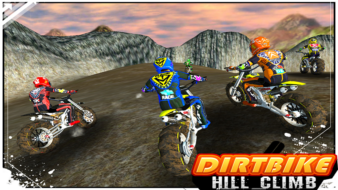 Great dirt bike games hill climb competition - YouTube