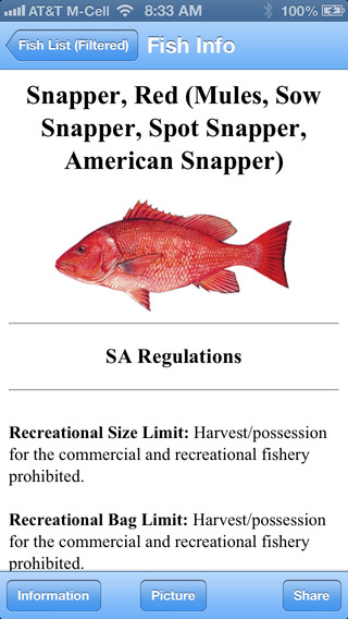 Gulf Fisheries Management Council Regulations iPhone Screenshot 3
