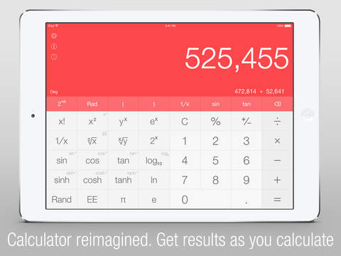 Calс One - Free Smart Calculator for iOS 8 with Widget