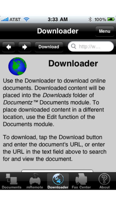 Document Downloader (with Printing, Fax Postal Mail and Real Postcards) iPhone Screenshot 2