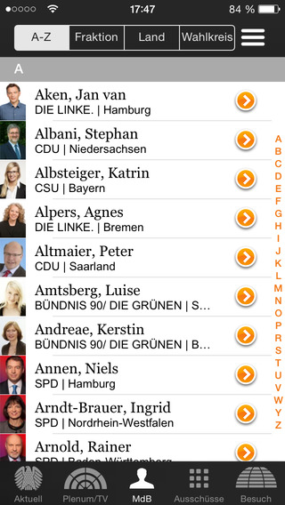 Deutscher Bundestag iPhone Screenshot 4