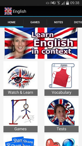 English in context free