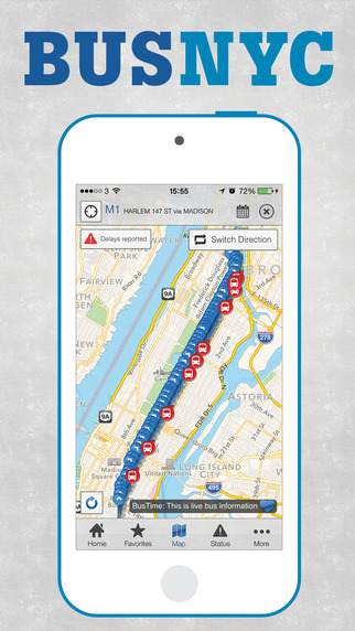 Bus New York City - Enhanced with MTA Bus Time Official NYC Maps