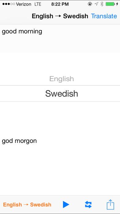 English Swedish Translator with Voice iPhone Screenshot 2