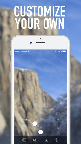 Blurring wallpapers . Make your own amazing iOS blurry wallpapers