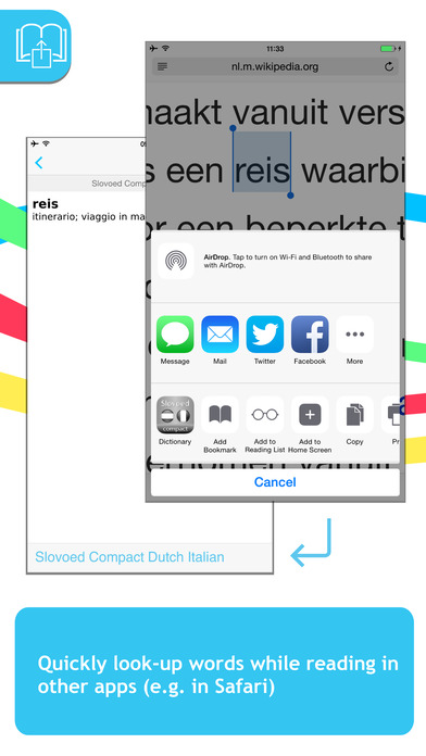 Dutch <-> Italian Talking SlovoEd Compact Dictionary iPhone Screenshot 3