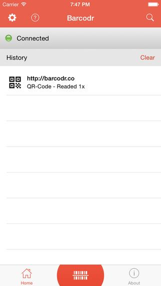 Barcodr Lite - Wireless QRCode Reader and Scanner