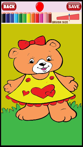 Coloring Kids Game for Teddy Bear