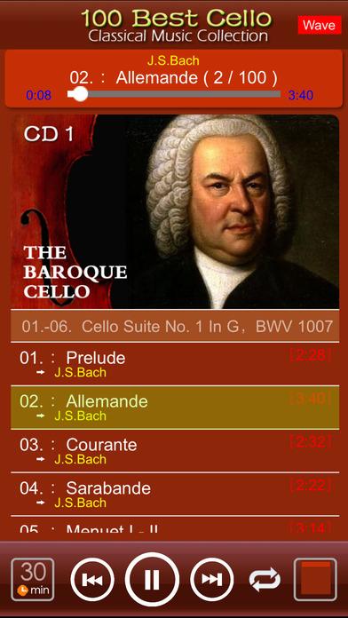 Classic Cello [100 Classical music] iPhone Screenshot 3
