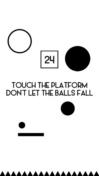 Don't Let the Balls Fall: Swipe the Platform and D