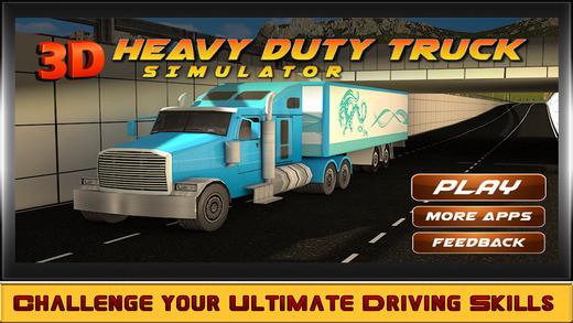 重型卡车模拟器 — — 驱动器你路拖车通过现实城市交通车辆在具有挑战性的游戏
