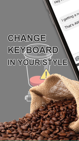 Custom Keyboard Coffee Color : Wallpaper Themes in Love a Cup Cafe Break Collection