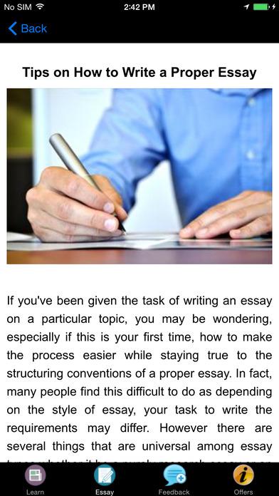 comprehensive essay writing