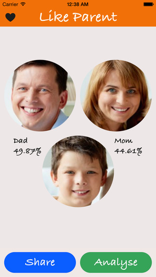 LikeParent - Analyse your face and show who look like you the most