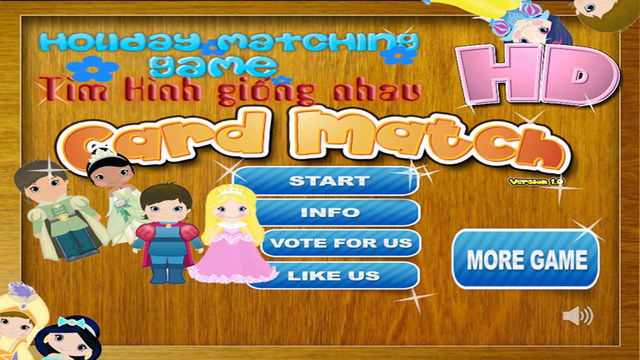 Princess Matching Game Free - Improve Kids Memory with Princess and Girl Fashion