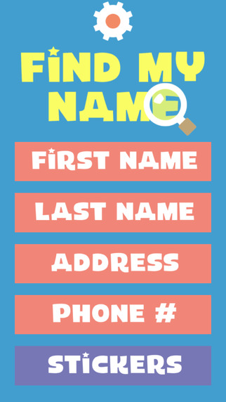 Find My Name - Teach preschoolers to recognize their own name