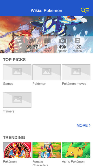 Wikia: Pokemon Fan App