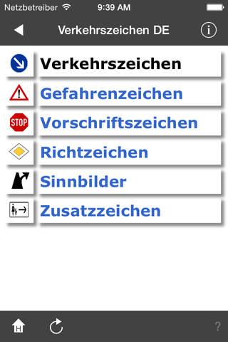 Verkehrszeichen DE screenshot 1