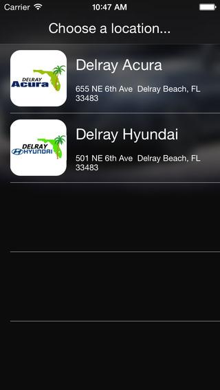 Delray Acura and Delray Hyundai DealerApp