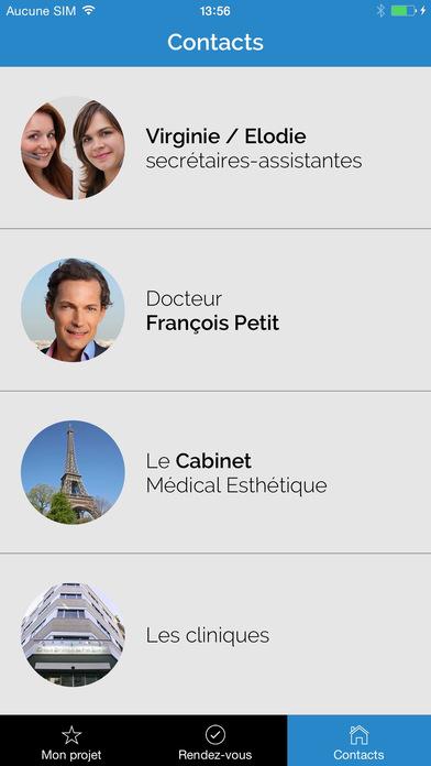 Chirurgie esthétique, Dr François Petit, PARIS iPhone Screenshot 4